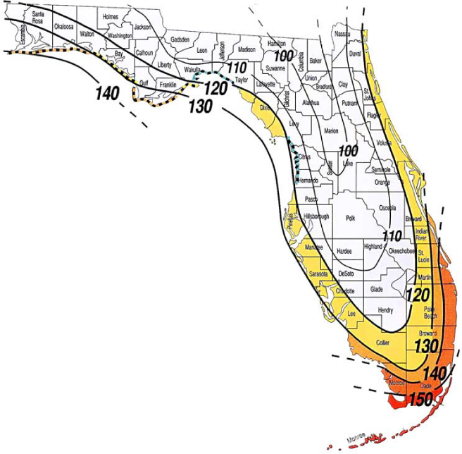 Orlando Florida Area Code Map.Sun Tek Skylightswind Zone Map Florida