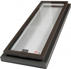 curb mount glass skylight
