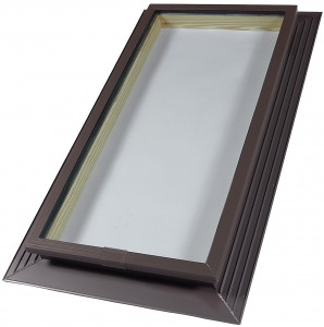 fixed high profile glass skylight